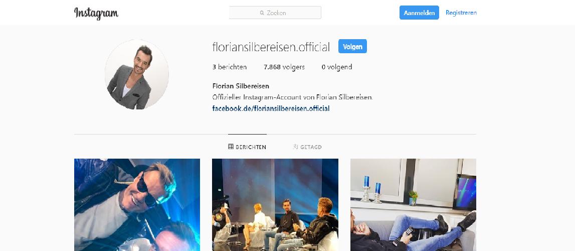 Florian nu officieel op instagram